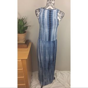 daniel buchler Dresses - Blue and white maxi tie-dye dress